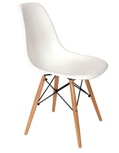 Eames Replica DSW - Dining Side Chair White MAPLE LEGS (DC101)