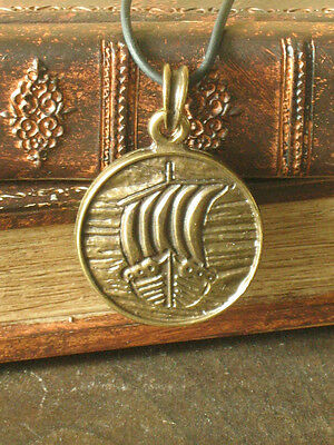 New! Medieval Renaissance Celtic Viking Drakkar Longboat Medal Pendant Amulet