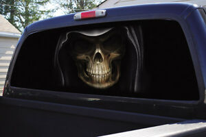 Truck Rear Window Graphic Decal Tint Grim Reaper Ebay
