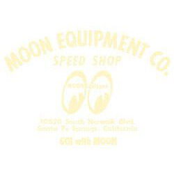 Mooneyes-Moon-Equipped-Cream-Speed-Shop-Script-Die-Cut-Sticker-Stickers-Decal-VW