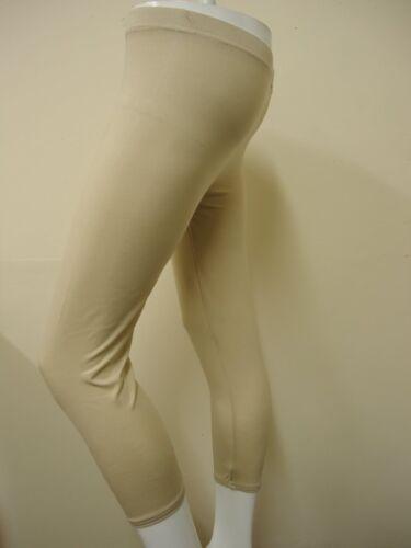 LADIES 3//4 LEGGINGS PLAIN SHORT VISCOSE LEGGINGS 8-14