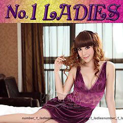SEXY-Chemise-Satin-Silk-Lace-BabyDoll-Night-Dress-7004