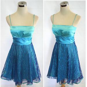 NWT JUMP APPAREL $100 AQUA / SILVER Party Prom Dress 7 | eBay