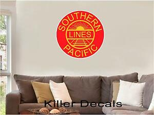 12-034-SOUTHERN-PACIFIC-LINES-RAILROAD-LOGO-DECAL-TRAIN-STICKER-WALL-OR-WINDOW