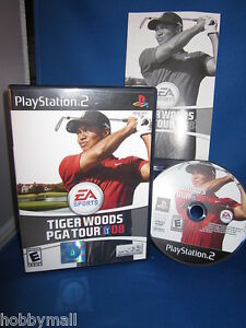 Playstation-PS2-Tiger-Woods-PGA-Tour-08-Video-Game