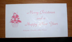 1940'S ADVERTISING CHRISTMAS CARD INK BLOTTER LAFAYETTE GRAPHIC ARTS BROOKLYN NY