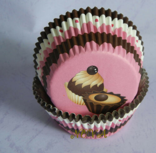 50 delicious cupcake pink cupcake liners baking paper cup muffin case 50x33cm