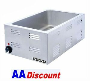 NEW-ADCRAFT-120V-SS-FULL-PAN-SIZE-FOOD-WARMER-FW1200W-COUNTER-TOP-STEAM-TABLE