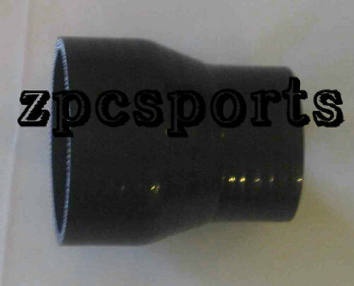 """2"""" to 2.5 inch Silicone Straight Reducer Coupler Black"""