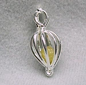 1-3Carats 1 ROUGH DIAMONDS Silver Treasure Cage Pendant