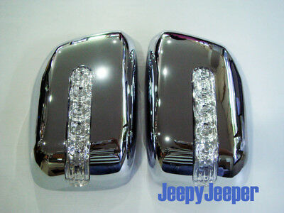 CHROME MIRROR COVER LED FOR NISSAN FRONTIER NAVARA R 2005 - 2014