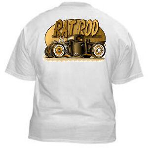 Kurbside-Kustoms-Rat-Rod-Pickup-Nostalgia-Hot-Rod-T-shirt-100-Cotton-JP-HR23
