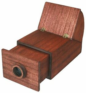 CAMERA-OBSCURA-drawing-painting-aid-Mahogany-replica-portable-wooden-brass-lens