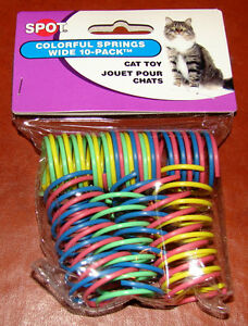 Ethical-Pet-Wide-Colorful-Springs-Cat-Toys-10-Pack-Spot-Brand-Play-amp-Exercise