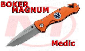 Boker Magnum Medic Folding Knife W Strap Cutter Amp Glass