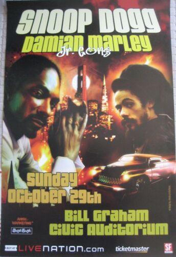 SNOOP DOGG POSTER Damian Marley ORIGINAL BILL GRAHAM CIVIC Cheeba Productions