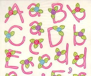Miss-Elizabeth-clear-stickers-Flower-girls-alphabet-Great-for-scrapbooks