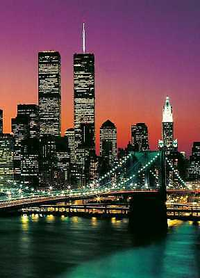 Fototapete MANHATTAN 183x254 Twintowers New York Hudson New York Brooklyn Bridge