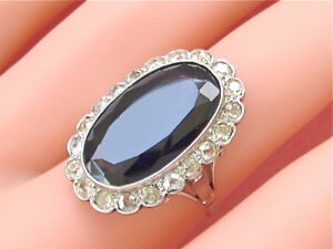 ANTIQUE-1-20ct-DIAMOND-10ct-SAPPHIRE-PLATINUM-RING-1930