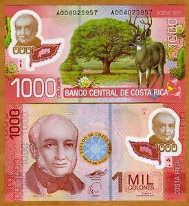 Costa-Rica-1000-Colones-2011-P-NEW-First-Polymer-UNC