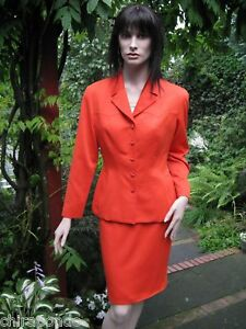 Gr Thierry Costume corallo di classe lusso 36 rosso arancione Mugler lusso aaEwBqS1