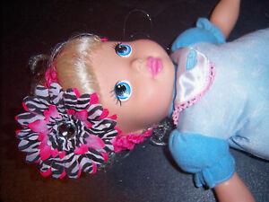 AMERICAN-GIRL-doll-HOT-PINK-ZEBRA-DAISY-HEADBAND-must-C