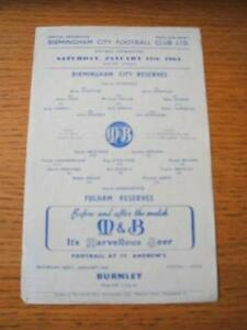 11011964 Birmingham City Reserves v Fulham Reserves Single Sheet Folding - Birmingham, United Kingdom - 11011964 Birmingham City Reserves v Fulham Reserves Single Sheet Folding - Birmingham, United Kingdom