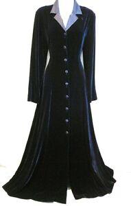 VINTAGE-LAURA-ASHLEY-RIDING-COAT-VELVET-SILK-DRESS-VICTORIAN-30s-VAMP-EDWARDIAN