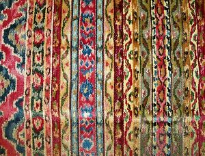 Brunschwig-amp-Fils-Savonnerie-Velvet-Stripes-Fabric-10-Yards-Prussian-amp-Garnet