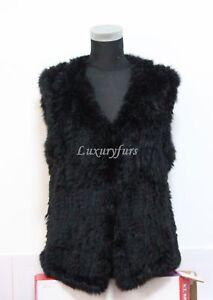 On-sale-knit-rabbit-fur-vest-black-color-free-shipping