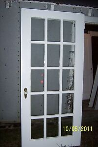 exterior 15 pane glass door 36 x 79