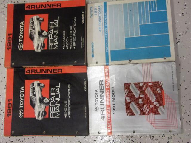 1991 Toyota 4runner Service Shop Repair Manual Set Oem