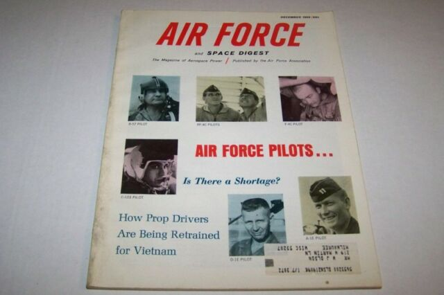 DEC 1966 AIR FORCE & SPACE DIGEST military magazine