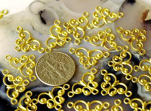 18x11mm-Raw-Brass-Filigree-Charms-Connectors-Beads-b34-24pcs