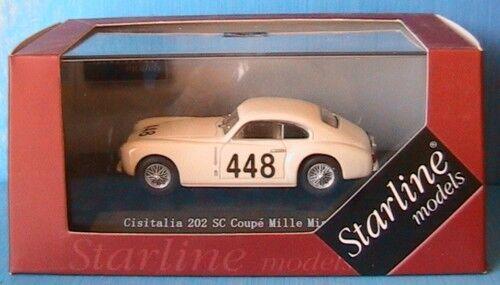 CISITALIA 202 SC COUPE   448 MILLE MIGLIA 1949 TATTONI GIALUCCA STARLINE 1 43