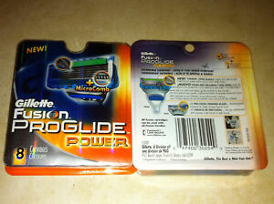 Gillette-Fusion-Proglide-Power-Blades-8-pack-Cartridges-USA-free-shipping
