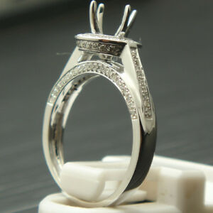 SOLID-14K-WHITE-GOLD-DIAMOND-SEMI-MOUNT-ENGAGEMENT-RING-SETTING-ROUND-6-0mm
