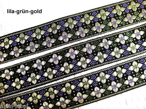 25mm breit 2 Meter orientalische Borte//0,75€ pro Meter// in vielen Farben B42