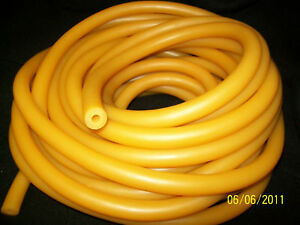 "50 Feet 1/4"" I.D x 3/16"" w x 5/8"" O.D Heavy Duty Latex Rubber Tubing Thick Wall"