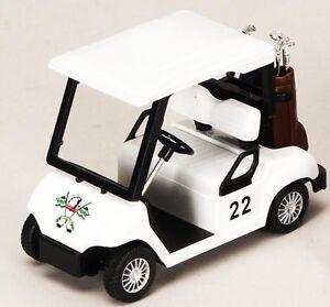 Golf-Cart-Miniature-Replica-Diecast-1-25-Scale-Mint-4-5-w-2-sets-of-Golf-Clubs