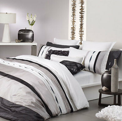 Logan and Mason MOSMAN TAUPE Queen Size Bed Doona Duvet Quilt Cover Set NEW