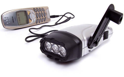 Dynamo LED Flashlight Mobile Nokia Charger with hook lm torch lamp w 8 k 7 light