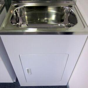 Details about 45 Litre Laundry Sink Trough Tub Cabinet 600*500*870MM