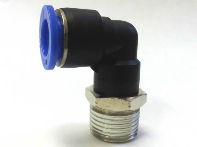 1pc Push In Connect Elbow 90º Fitting 3/8T x 1/4 NPT MettleAir MTL3/8-N02