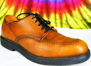 7-D-mens-vtg-brown-leather-RED-WING-oxfords-work-shoes