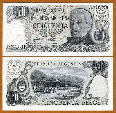 Argentina, 50 Pesos, ND (1976-1978), P-301 (301b), UNC