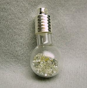 1+Cts White Raw Uncut Natural ROUGH DIAMONDS Pendant