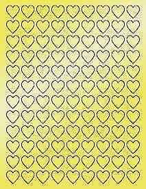 6-SHEETS-3-4-034-BLANK-GOLD-HEARTS-STICKERS-LABELS-FAVORS