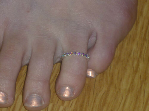 Anillo del dedo del pie Diamantes De Imitación//Cristal Varios Colores Nuevo *