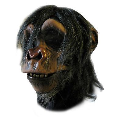 Chimpanzee Monkey Chimp Ape Latex Adult Halloween Mask Action Mouth Moves